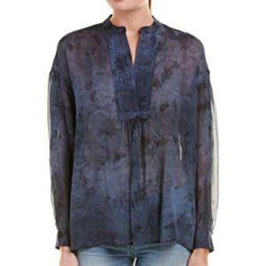 Vince Sheer Marble Print Top Size L
